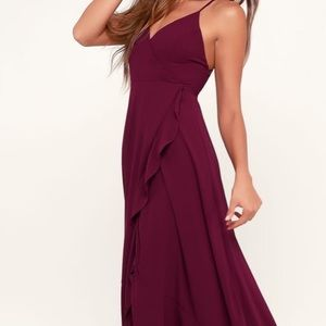 Maroon bridesmaid dress
